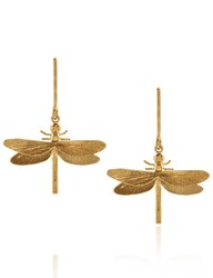 Alex Monroe Gold Classic Dragonfly Earrings
