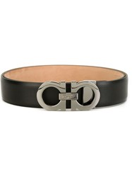 Salvatore Ferragamo Gancini Buckle Belt Black