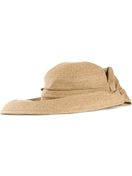 Ca4la Twisted Wide Brim Hat Nude And Neutrals