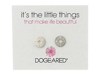 Dogeared Little Things Compass Disc Stud Earrings Sterling Silver Earring