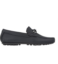 Corneliani Hamptons Leather Driving Shoes Navy