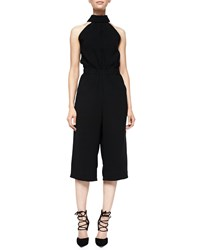 Mcq By Alexander Mcqueen Cut In Shoulder Cropped Jumpsuit Black