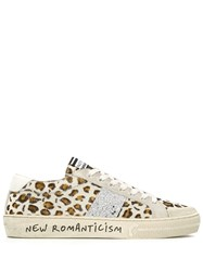 Moa Master Of Arts Leopard Print Lace Up Sneakers Neutrals