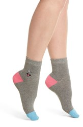 Richer Poorer Wink Will Bryant Crew Socks Heather Grey