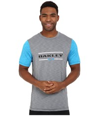 Oakley Melange Short Sleeve Rashguard Light Grey Men's T Shirt Gray