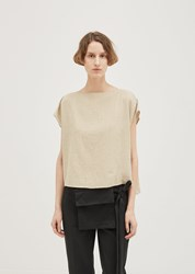 Nehera Striped Cotton Blend Top Off White With Ochre