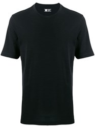 Z Zegna Short Sleeve Fitted T Shirt Black