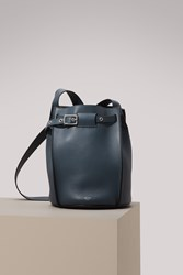 C Line Big Bag Bucket With Long Strap In Smooth Calfskin