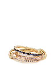 Spinelli Kilcollin Aurora Sapphire Tanzanite And Yellow Gold Ring Blue