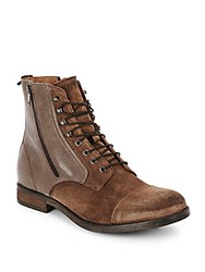 Diesel Serberhus Leather Lace Up Ankle Boots Medium Brown