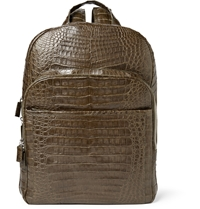Santiago Gonzalez Crocodile Backpack Green