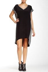 Glam V Neck Hi Lo Dress Black