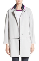 St. John Women's Collection Stretch Twill Convertible Coat