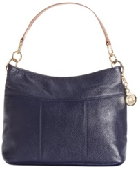 Tommy Hilfiger Th Signature Leather Small Hobo Tommy Navy