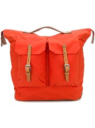 Ally Capellino Square Duffel Backpack Yellow And Orange