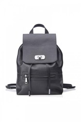 Wtr Sky Leather Backpack Black