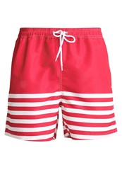Pier One Swimming Shorts White Red