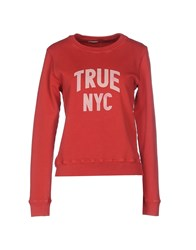 Truenyc. Topwear Sweatshirts Women Red