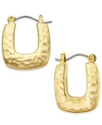 Charter Club Gold Or Silver Tone Hammered Huggie Hoop Earrings Only At Macy's