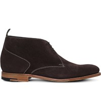 Barker Lucius Leather Chukka Boots Dark Brown