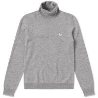 Fred Perry Classic Merino Roll Neck Knit Grey