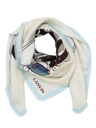 Lanvin Babar New York Print Silk Scarf Multicolor