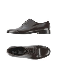 Galliano Footwear Lace Up Shoes Men Dark Brown