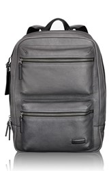 Men's Tumi 'Mission Bryant' Leather Backpack Grey Iron