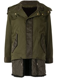 Guild Prime Hooded Military Jacket Green