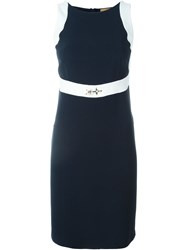 Fay Hook Detail Dress Blue