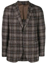 Tombolini Check Single Breasted Blazer Brown