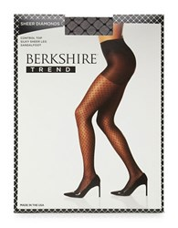 Berkshire Sheer Diamond Pantyhose Fantasy Black