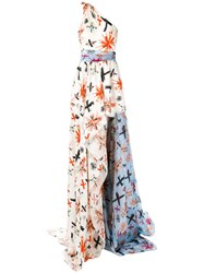 Fausto Puglisi Flared Maxi Dress Women Silk Acetate 40 White