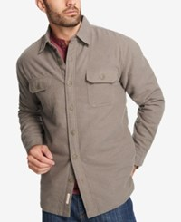 Weatherproof Vintage Men's Fleece Lined Shirt Jacket Created For Macy's Med Green