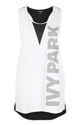 Topshop Mesh Back Tank By Ivy Park White