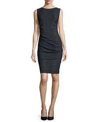 Nicole Miller Artelier Sleeveless Body Conscious Ruched Sheath Dress