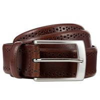 John Lewis Made In Italy Brogue Belt Brown