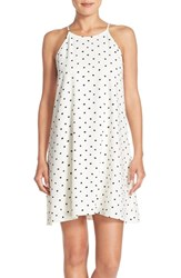 Women's Eci Polka Dot Crepe Swing Dress