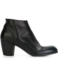 Pantanetti Mid Heel Ankle Boots Black
