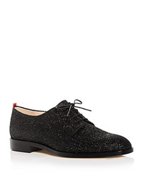 Sarah Jessica Parker Sjp By Ace Glitter Plain Toe Oxfords Black