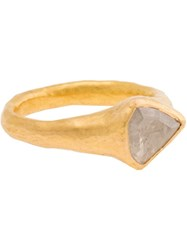 Ram 22K Gold Ring With White Diamond Metallic