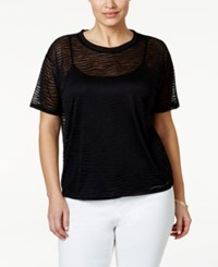 Michael Michael Kors Plus Size Burnout Zebra Pattern T Shirt