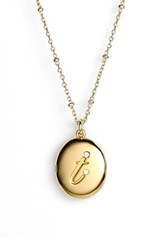 Women's Kate Spade New York Initial Locket Pendant Necklace Gold T