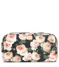 Dolce And Gabbana Floral Printed Cosmetics Case Black