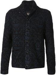 Rrl Shawl Collar Jacquard Cardigan Black
