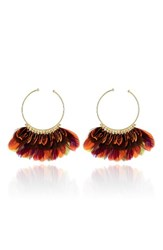 Gas Bijoux Women's 'Buzios' Feather Earrings Gold Multi