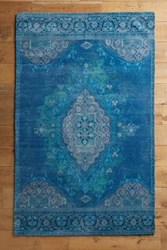 Anthropologie Overdyed Vedado Rug Dark Turquoise