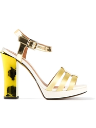 Fendi Stacked Heel Sandal Multicolour