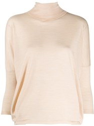 Ma'ry'ya Cropped Sleeve Sweater Neutrals