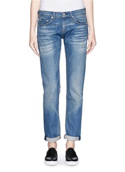 Rag And Bone 'Dre' Slim Boyfriend Jeans Blue